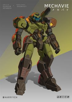My crossover of Gundam Astraroth & Doomguy from Doom Eternal. This design took me a longer time because it need weathering effects like paint scratches & dirt marks to make it looks Doom-ish. Robot Concept Art, Armor Concept, Robot Art, Arte Gundam, Gundam Art, Gundam Astaroth, Character Art, Character Design, Doom Game