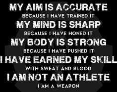 I am a weapon