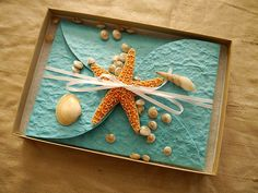 Sample  Starfish and Beach Boxed Wedding by PassionPaper on Etsy, $15.00