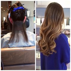 before  & after extensions #hairbylola Kane and Company Salon