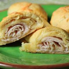 Ham and Cheese Crescent Roll-Ups Allrecipes.com - Such a versatile recipe and very kid-friendly! I used turkey and shredded cheese.