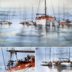 "Anders Andersson on Instagram: ""Pyrol Orange from DS 👍. 1/2 Sheet Saunders Waterford. #danielsmithwatercolors #saunderswaterford #andersandersson"" Watercolor Landscape Paintings, Sailing Ships, Boat, Orange, Instagram, Dinghy, Watercolor Landscape, Boats, Sailboat"