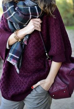 Plum fall outfit