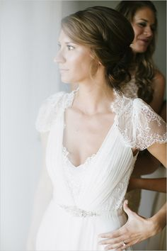 Dentelle by Jenny Packham. One of my favorites that we carry at BleuBelle bridal!