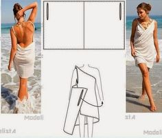 Simple Wrap Beach Dress with scoop back Diy Clothing, Sewing Clothes, Clothing Patterns, Dress Patterns, Sewing Patterns, Fashion Sewing, Diy Fashion, Fashion Outfits, Sewing Hacks