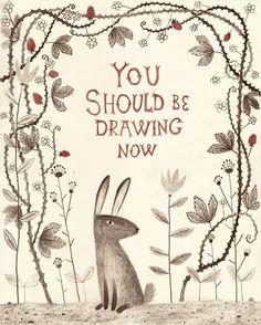 Rabbit says 'draw'!