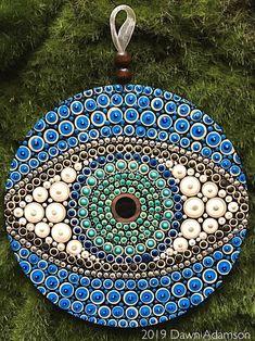 Dot Art Painting, Mandala Painting, Stone Painting, Mandala Art Lesson, Cd Art, Mandala Rocks, Mandala Design, Painted Rocks, Hand Painted
