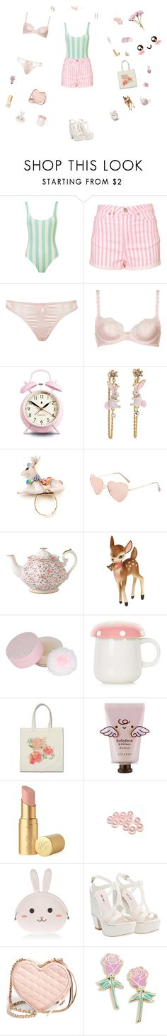 """Make Me A Bird"" by edit-hansson ❤ liked on Polyvore featuring Dita Von Teese, Newgate, Betsey Johnson, Hop Skip & Flutter, Royal Albert, Retrò, Paul & Joe, Forever 21, Topshop and Too Faced Cosmetics"