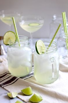 Housemade cucumber infused Vodka Lime Spritzers - lightly sweetened with agave