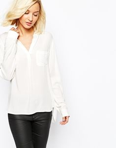 White Loose Fit Blouse