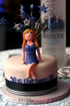 50th Birthday Cake by Natty-Cakes (Natalie), via Flickr