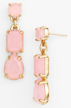 Simple yet stylish pink stone earrings