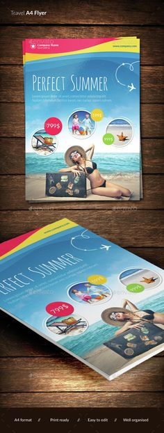 Travel Brochure - Trifold Travel brochure, Indesign templates - vacation brochure template