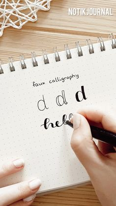 Faux Calligraphy - Tutorial - easy lettering font - no brush pens needed - beginner friendly