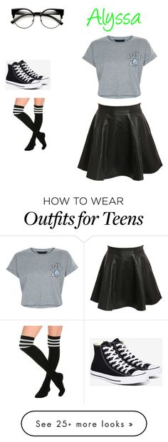 """""""Untitled #203"""" by alyssaandilovewwe on Polyvore featuring Pilot, New Look and Converse"""