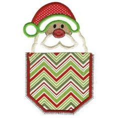 Buy ZDBJJ559-8 Christmas Pockets Applique-Single , from for $4.00 only in Designs By JuJu Machine Embroidery Downloads.