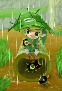 Link : Wind Waker,.. those little spike things were one of my favorite parts of the game!