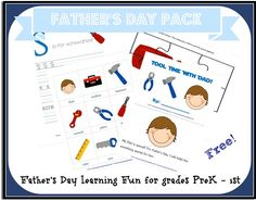 Fathers Day Pack for PreK - 1st (Free Download)