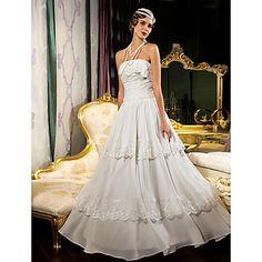 gaine / colonne bretelles parole longueur robe de mariée en mousseline de soie (632814) – CAD $ 224.27