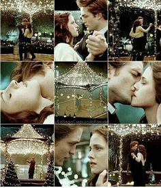 Their last kiss in the end of the first movie