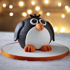 Penguin Hemisphere Cake - It's #PenguinAwarenessDay! Make a Penguin Cake!