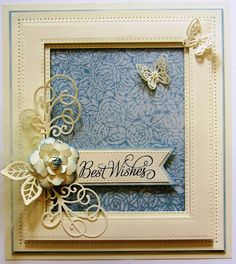 Hello crafters! Another technique sort of background on today's card. Start by embossing a piece of wax paper in the Bed of Roses embossing folder. Next, you need to place the embossed wax paper b