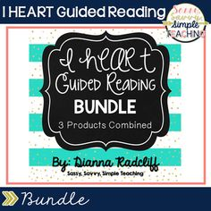 I HEART Guided Reading BUNDLE This bundle contains 3 of my Guided Reading Products! Save $ when you purchase a bundle! Read below for the product details >>> Product #1- Guided Reading Organization  Organizing and Planning  Anecdotal Notes  Running Record  Informal Assessment