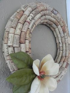 All About DIY Wine Cork Flower Wreath You might get the recipient to assist you to drink the wine! You don't need to overeat as you are famished, nor do you need your wine or cocktail to visi… Wine Cork Wreath, Wine Cork Ornaments, Wine Cork Art, Snowman Ornaments, Christmas Ornaments, Christmas Decorations, Wine Craft, Wine Cork Crafts, Wine Bottle Crafts