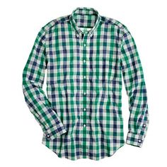 J.Crew Secret Wash lightweight shirt in Fallon check