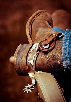 ~J                  Boots 'n Spurs ...working man at rest...