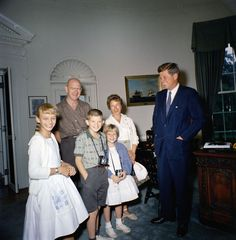Visit of the One Millionth visitor to the White House in 1961, Edythe T. Sprayberry and family, 10:30AM - John F. Kennedy Presidential Library & Museum