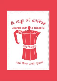 A4 Coffee Quote Print  via Etsy