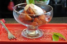 Roasted Red Pears with a Honey Maple Sauce