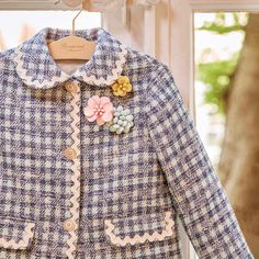 The Bonpoint show gets closer. the new Summer 2019 collection will be unveiled on Wednesday July at Paris time 🍒 Bon Point, Couture Details, Kids Fashion, Fashion Design, Tweed Jacket, The 4, July 4th, Gingham, My Girl
