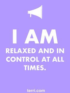 I AM RELAXED AND IN CONTROL! Your words are powerful and the words you speak about yourself are even more powerful. Discover what to say from God's Word about your freedom, faith, finances, family, fitness, and your future dreams and goals. Program your mind for success through positive declarations and affirmations to become happier, healthier, and more productive today! Click on the Pin to order my book Pep Talk & find out more about affirmations.
