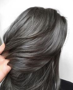 Deep Steel Color Brooke Bent The most beautiful hair ideas, the most trend hairstyles on this page. Dark Grey Hair Charcoal, Ash Grey Hair, Grey Hair Men, Strawberry Hair, Strawberry Blonde Hair Color, Pelo Color Ceniza, Lavender Grey Hair, Rose Blonde Hair, Gray Hair Highlights