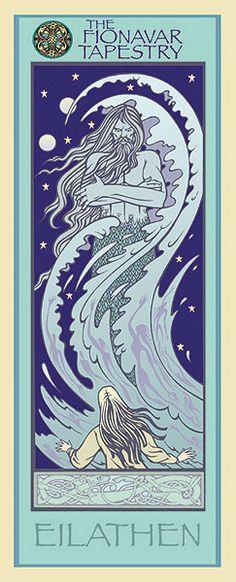 Images of Fionavar – Eilathen Book Cover Art, Book Art, Fantasy Literature, Summer Trees, Book Club Books, Great Books, Folklore, The Darkest, Tapestry