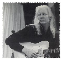 Johnny Winter with White Fender Telecaster
