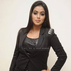 Poorna during a filmy event held in Hyderabad.