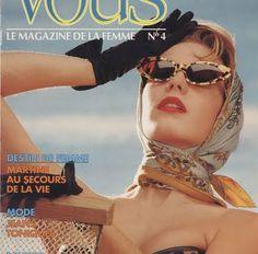 head scarves, cat eye sunglasses, 1960's