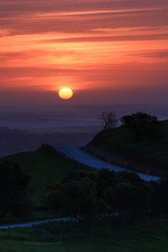 sunset at Barossa taken by David Gibb photography. 28th Sept 2013