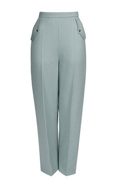 Flat Front Pocket Trousers by MARINA HOERMANSEDER for Preorder on Moda Operandi