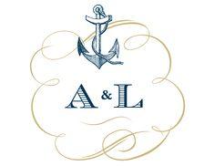 free custom monogram #nautical #weddingchicks