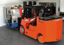 Factory machinery moving equipment; the Versalift. Ideal for factory machinery removals and moving the Versalift is the ultimate when it comes to fork lift trucks.