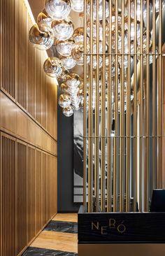Gamma hotel on Behance Art Deco Hotel, Hotel Decor, Modern Art Deco, Modern Design, Art Nouveau, Hotel Reception, Cafe Design, Patio Design, Hotel Interiors