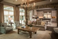 French Family Room. Inspiring French Family Room Design. Love it! #French #FamilyRoom #Design