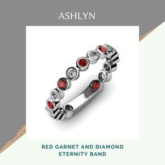 Bezel Set Ring, Stackable Rings, Red Garnet, Eternity Bands, Jewelry Trends, Ruby Gemstone, Gemstone Rings, Custom Jewelry, Jewelry Collection