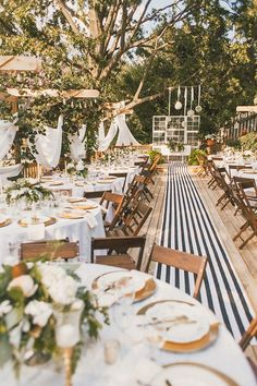 striped wedding details - photo by Cassie Lopez http://ruffledblog.com/whimsical-backyard-garden-wedding