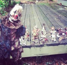 Creepy: I just helped a friend move into their apartment. The next day they found 37 clowns under their porch.