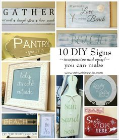 10 Thrifty (inexpensive and easy!) DIY Signs You Can Make